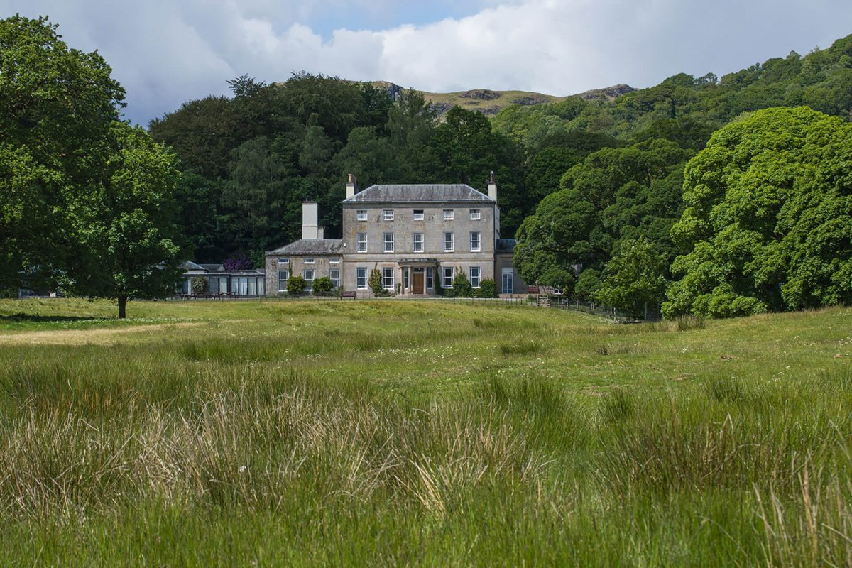 Brathay Hall and surrounding windermere
