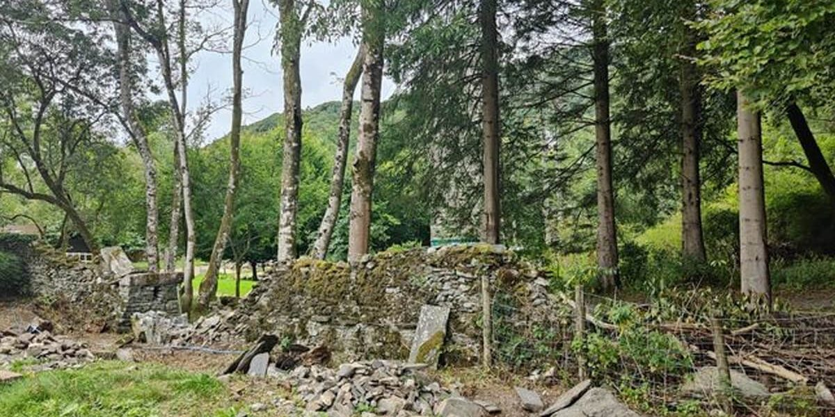 Old broken dry stone wall